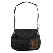 Little Earth MLB Sport Noir Quilted Shoulder Bag; Detroit Tigers