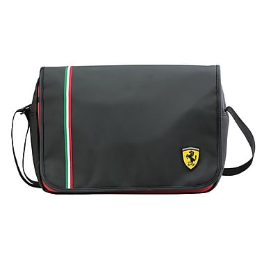 Ferrari Messenger Bag; Black