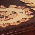 Xia Home Fashions Bountiful Leaf Embroidered Cutwork Harvest Placemat (Set of 4); 8'' W x 8'' D