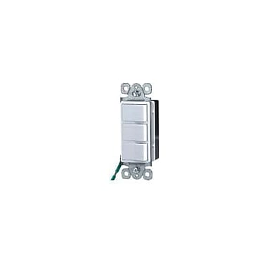 Morris Products 15A-120/277V Commercial Grade Decorator Triple Rocker Switch in White
