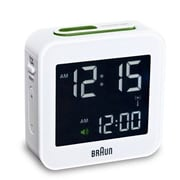 Braun Digital Alarm Clock; White