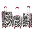Rockland Safari 3 Piece Upright Set; Pink Zebra