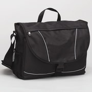 Preferred Nation Recycled PET Messenger Bag; Black