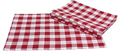 Xia Home Fashions Gingham Check Placemat Set of 4 ; Red