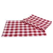 Xia Home Fashions Gingham Check Placemat (Set of 4); Red