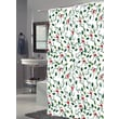 Carnation Home Fashions ''Deck The Halls'' Polyester Shower Curtain
