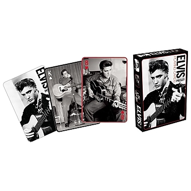 Aquarius Elvis Black and White Playing Cards