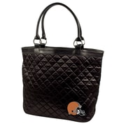 Little Earth NFL Quilted Tote Bag; Cleveland Browns
