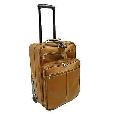 Piel 22'' Wheeler with Top Pocket and Laptop Compartment Carry On; Saddle