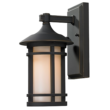 Z-Lite Woodland 1 Light Outdoor Wall Lantern; Oil Rubbed Bronze