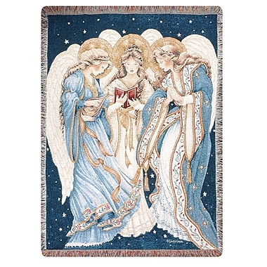 Manual Woodworkers & Weavers Three Angels Tapestry Cotton Throw
