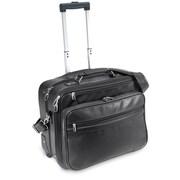 U.S. Traveler Churchill Leather Laptop Briefcase