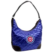 Little Earth MLB Quilted Hobo Bag; Chicago Cubs