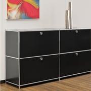 Infinita Corporation SYSTEM4 Elite 4-Drawer  Filing Cabinet; Black