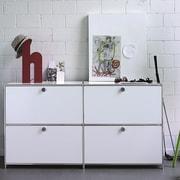 Infinita Corporation SYSTEM4 Elite 4-Drawer  Filing Cabinet; White