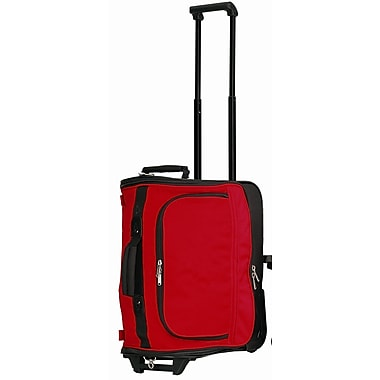 Preferred Nation 18'' Compact 2-Wheeled Duffel; Red
