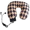 Nek Pillow Neck Pillow; Argyle Brown