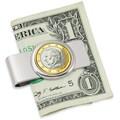 American Coin Treasure Belgium King Albert II One Euro Coin Money Clip