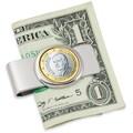 American Coin Treasure Spain King One Euro Coin Money Clip