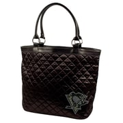 Little Earth NHL Sport Noir Quilted Tote Bag; Pittsburgh Penguins