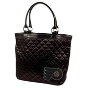 Little Earth NHL Sport Noir Quilted Tote Bag; Philadelphia Flyers