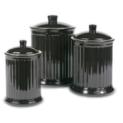 Omniware Simsbury 3 Piece Canister Set; Black