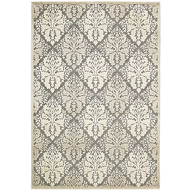 Nourison Graphic Illusions White Geometric Area Rug; 3'6'' x 5'6''