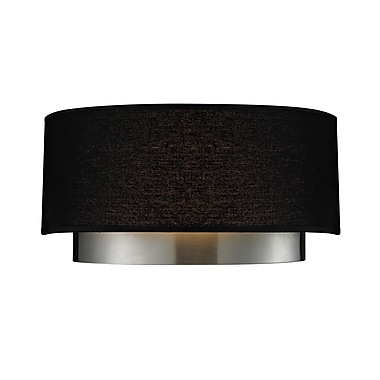 Z-Lite Jade 2-Light Wall Sconce; Black
