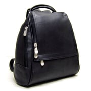 Le Donne Leather U Zip Mid Size Backpack; Black