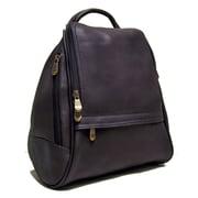 Le Donne Leather U Zip Mid Size Backpack; Caf