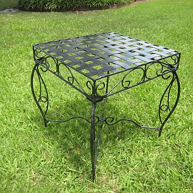 International Caravan Mandalay Iron Patio Side Table