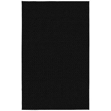 Garland Rug Medallion Black Rug; 6' x 9'