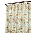 Ellis Curtain Valerie Polyester Jacobean Floral Print Shower Curtain; Spa
