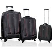 Travelers Polo & Racquet Club Silhouette ''Heavy-Duty'' 3 Piece Luggage Set