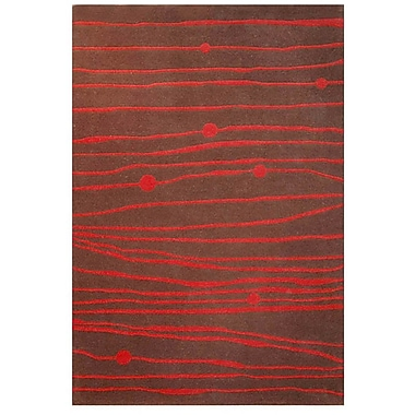Acura Rugs Contempo Brown/Red Area Rug; 8' x 10'6''