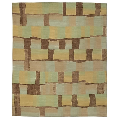 Artisan Carpets Designers' Reserve Green/Brown Area Rug; 3' x 5'