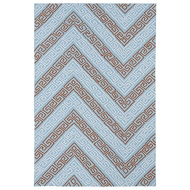 Kaleen Matira Light Blue Indoor/Outdoor Rug; 8'6'' x 11'6''
