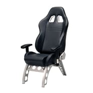 Pit Stop Furniture Receiver Chair Supported with Steel Alloy Base; Black