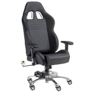 Pit Stop Furniture Chair with Racing Suspension Spring; Black