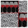 Thirstystone Zebra Wine Occasions Coasters Set (Set of 4)
