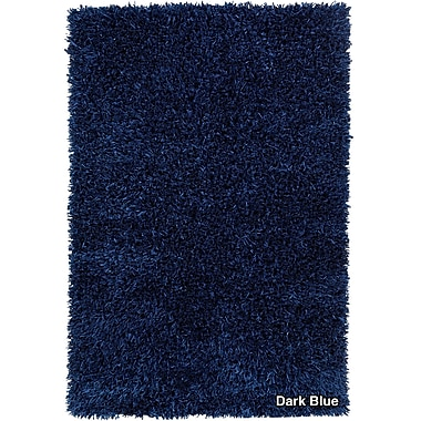 Chandra Sidney Dark Blue Area Rug; 7'9'' x 10'6''