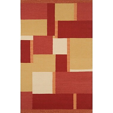 Continental Rug Company Nouveau Dark Red Area Rug; 5' x 8'