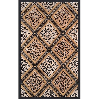 American Home Rug Co. African Safari Skins/Black Imperial Safari Animal Area Rug; 8' x 11'