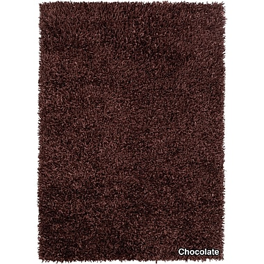 Chandra Sidney Dark Brown Area Rug; 5' x 7'6''