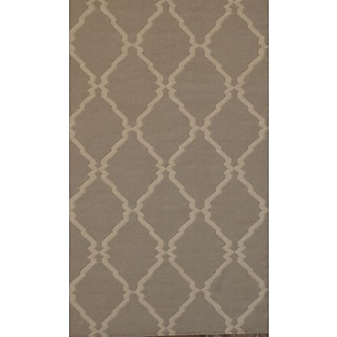 MOTI Rugs Flat Weave Brown Area Rug; 8' x 11'