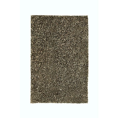 Noble House Sheen Black Rug; 5' x 8'