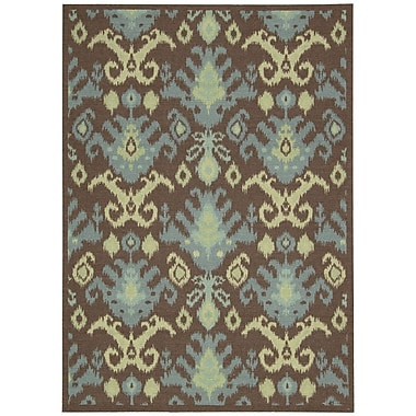 Nourison Vista Chocolate Area Rug; 4' x 6'