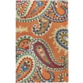 nuLOOM Modella Orange Whimsy Paisley Rug; 7'6'' x 9'6''