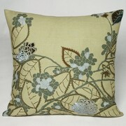 Kevin O'Brien Studio Hydrangea Embellished Throw Pillow; Antique