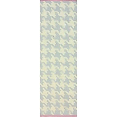 nuLOOM Moderna Soft Grey Border Houndstooth Rug; Runner 2'6'' x 8'